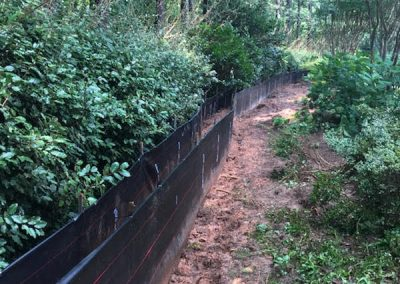Silt Fence Installed