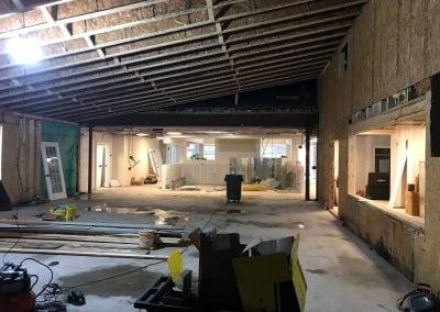 Looking into activity kitchen from East wing expansion!